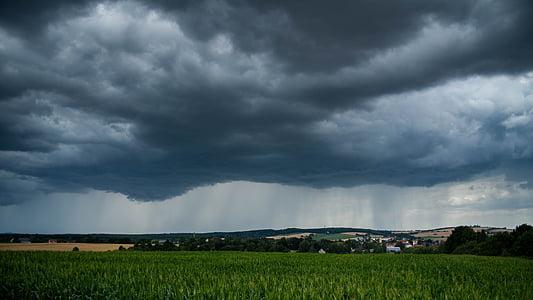 đám mây, bầu trời, cơn bão, Trời Ðẹp, mưa, đám mây đen, đám mây hình thức