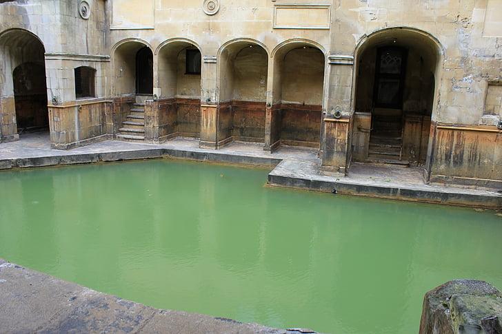 Kylpyamme, roomalainen kylpy, kuuma lähde, Roman