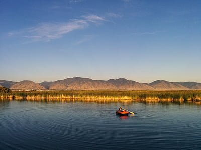 paddle boat, scenic, leisure, water, boat, river, recreation