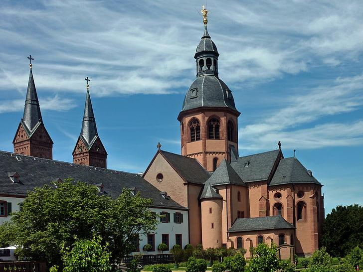 Basílica, Seligenstadt, Monestir, jardí del monestir, Einhard basílica, Klosterhof, arquitectura