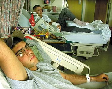 Bethesda naval hospital, patsiendid, mehed, recuperating, ja inimene, millega, Voodid