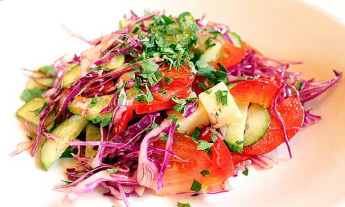 Amanida, Amanida d'hortalisses, cocció d'aliments, els més gurmets, cuina, Nutrició, vegetariana