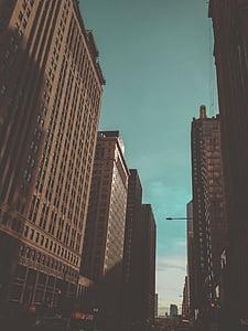 bangunan, Kota, arsitektur, susun, langit, perkotaan