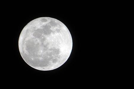 Lluna, nit, la lluna plena, l'astronomia, Lluna plena, superfície de la lluna, espai