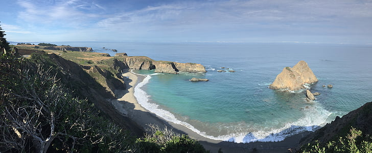 tee 1, Ocean, California, Scenic, rannikul, CA, kivid