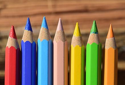 pliiatsid, värvilised pliiatsid, Värviline, värvi, Värv pliiatsid, värvipliiatsid, Värv