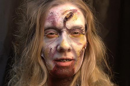 woman, girl, dead, death, zombie
