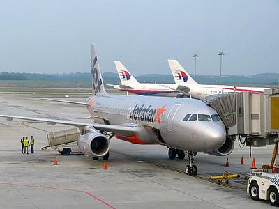 máy bay, hãng, bầu trời, Sân bay, bay, thương mại, giao thông vận tải