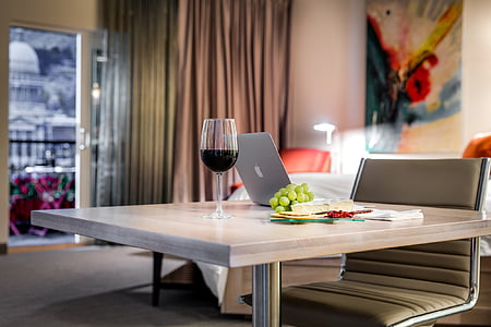 Hotel, menjador, aliments, placa, plat, luxe, decoració