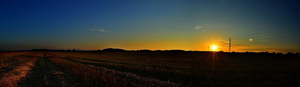 paisaje, panorama, puesta de sol