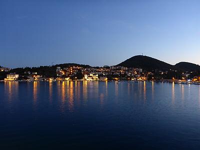 kryssning, solnedgång, resor, semester, båt, vatten, Holiday