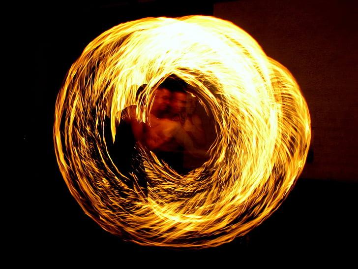 menjadors de foc, artista de foc, foc, Districte, Torxa, flama, nit