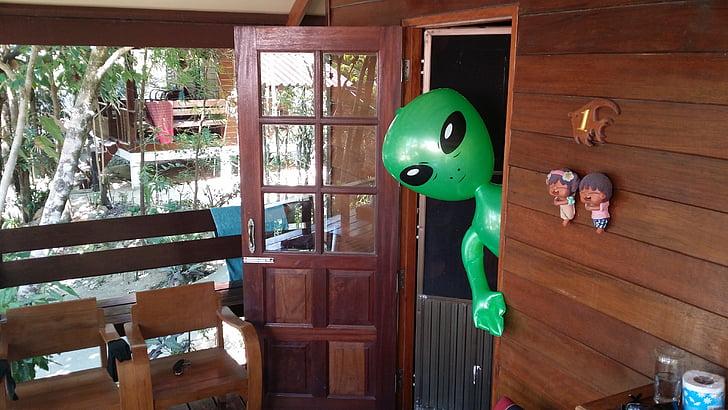 cudzinci, Alien, Alie, Zelená, zelený samec
