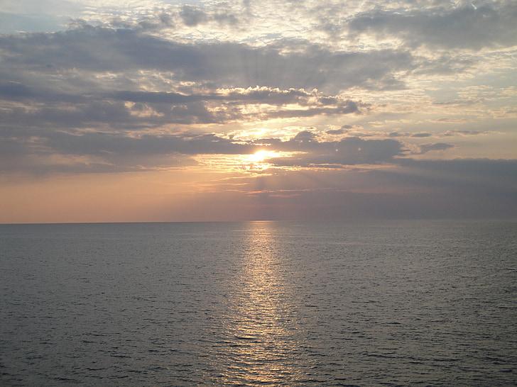 일몰, 물, 바다, abendstimmung, 로맨스
