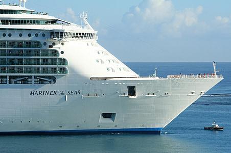 kryssningsfartyg, kryssning, fartyg, Holiday, Boot, Ocean, resor