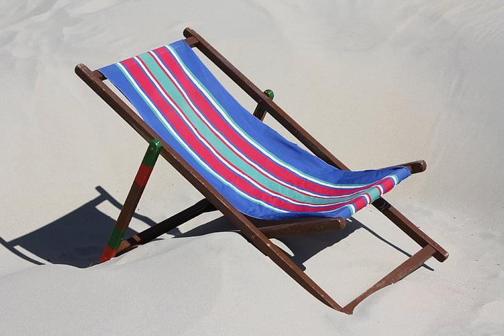 platja, cadira, Alemanya, viatges, l'estiu, relaxar-se, l'aigua