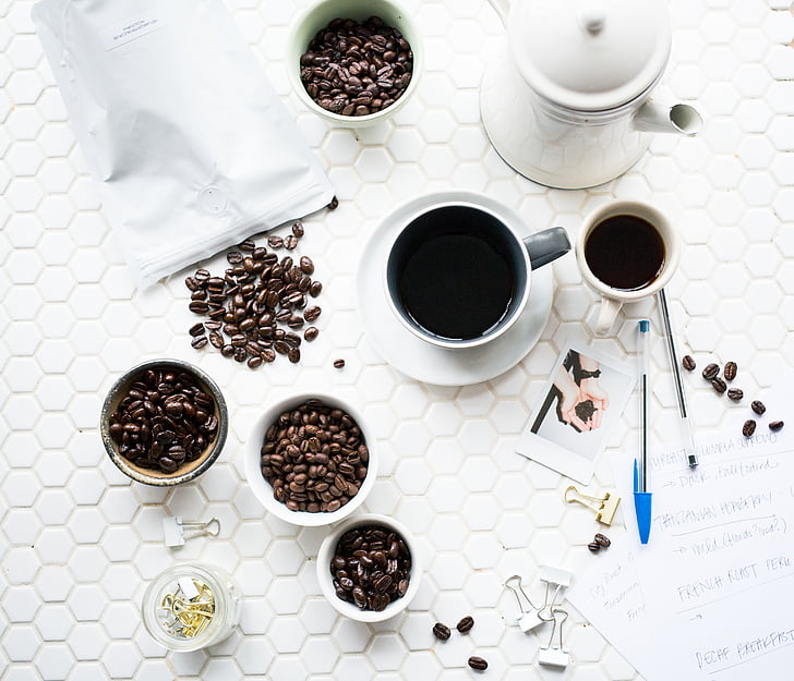 cafeïna, cafè, grans de cafè, tassa de cafè, Copa de cafè, Copa, tassa de cafè