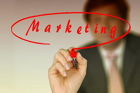 empresari, deixar, marcador, text, tipus de lletra, mercat, Màrqueting