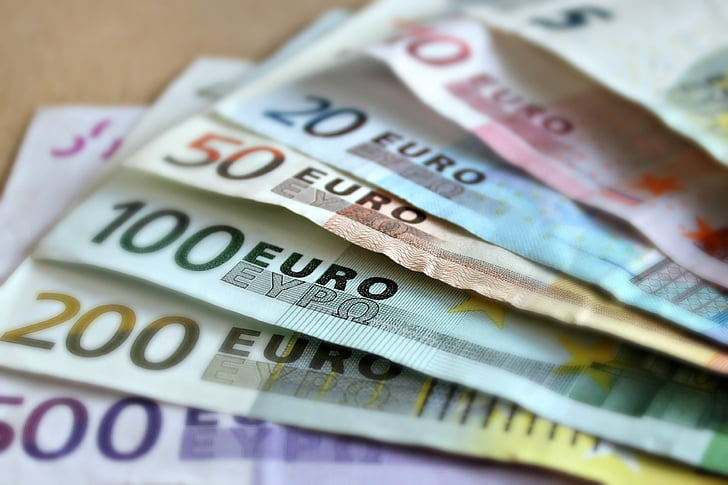 банкова бележка, евро, сметки, книжни пари