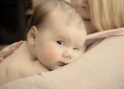 vauva, Makea, pehmeä, vastasyntynyt, iho, sileä, äiti
