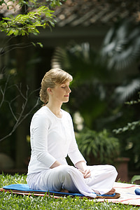 женщина, Буддийские, медитировать, Ват, Пхра dhammakaya, Храм, Пагода dhammakaya