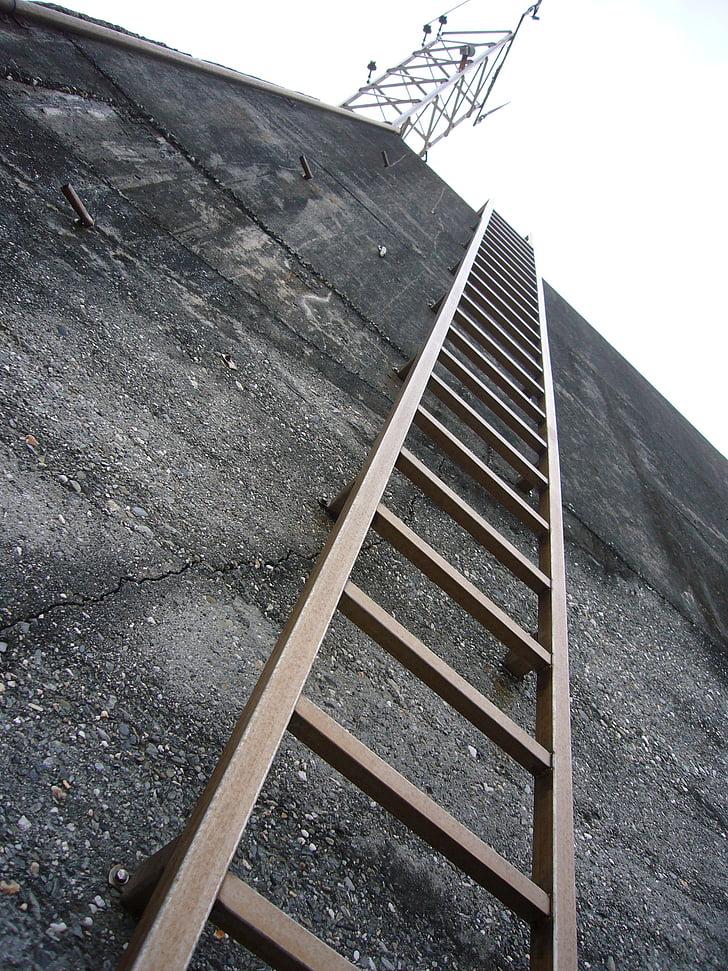 ladder, landscape, country