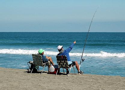 Surf, horgászat, halászok, kikapcsolódás, szabadidő, óceán, Surf, víz