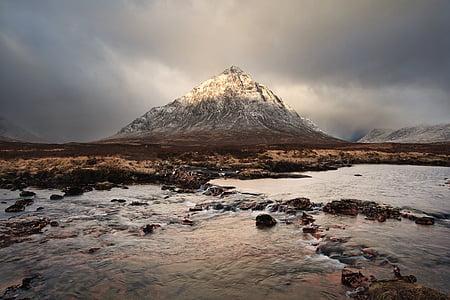 montanha, Highland, nuvem, céu, Cimeira, cume, paisagem