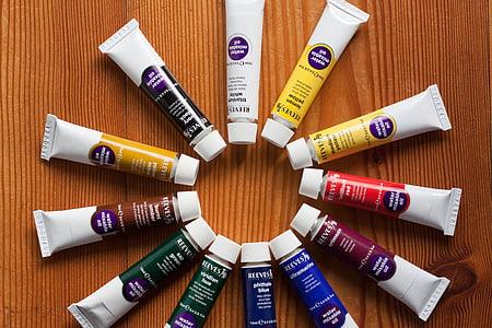 สี, สีน้ำมัน, หลอด, ศิลปะ, สี, ภาพวาด, มีสีสัน