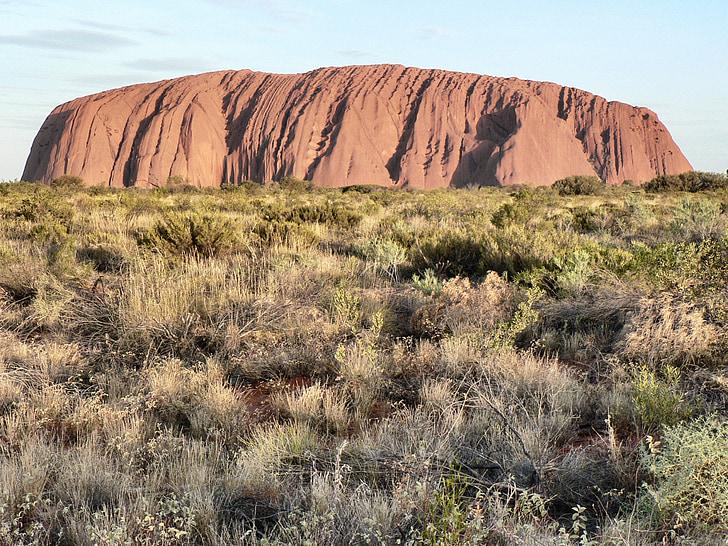 rocha de Ayers, Austrália, Marco, Uluru, paisagem, rocha, Centro