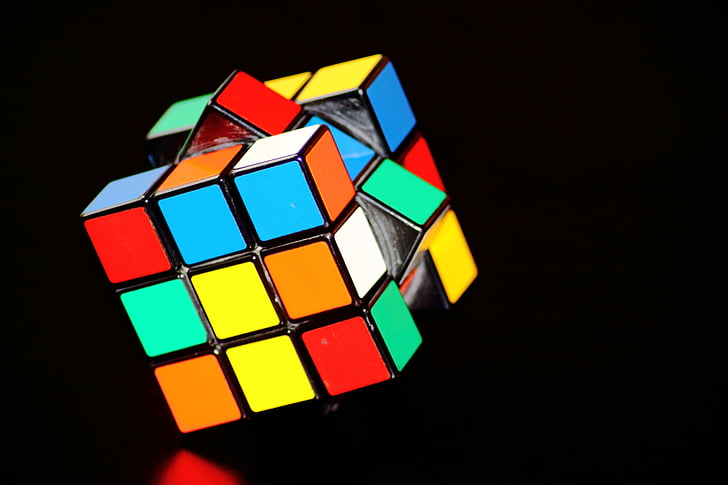 coloré, concentration de, Cube, Intelligence, cube magique, esprit, patience