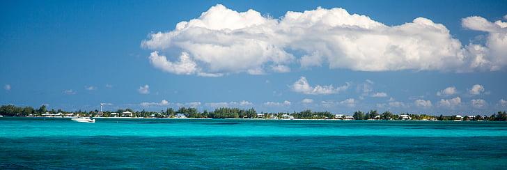 grand cayman, water, clear, caribbean, panorama