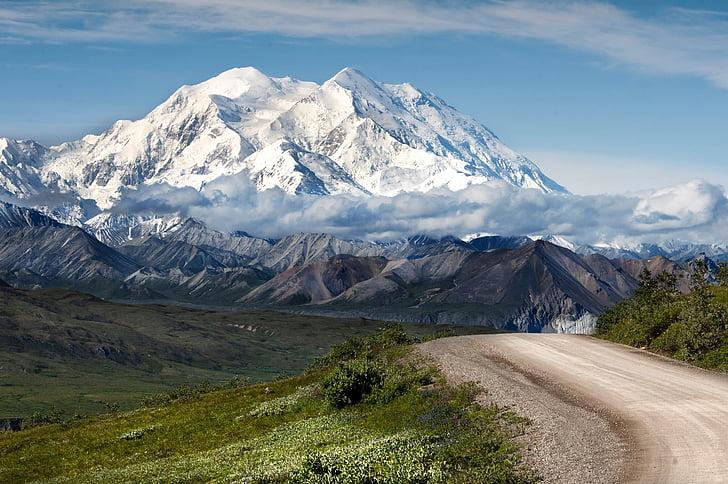 muntanyes, paisatge, neu, natura, desert, a l'exterior, escèniques