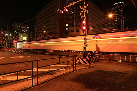 japan, osaka, night view, night, traffic, street, urban Scene