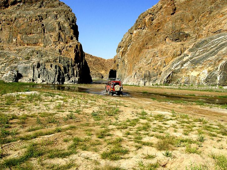 sõiduki, kivid, vee, kaljud, Hills, kivi, Desert
