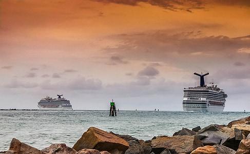 resor, kryssning, Cruise line, vatten, Ocean, semester, segling