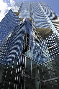 arhitektūra, stikls, ēka, mūsdienu, debesis, modernas ēkas, logs