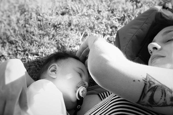 Free photo: mother, baby, nap, love, child, childhood, children ...