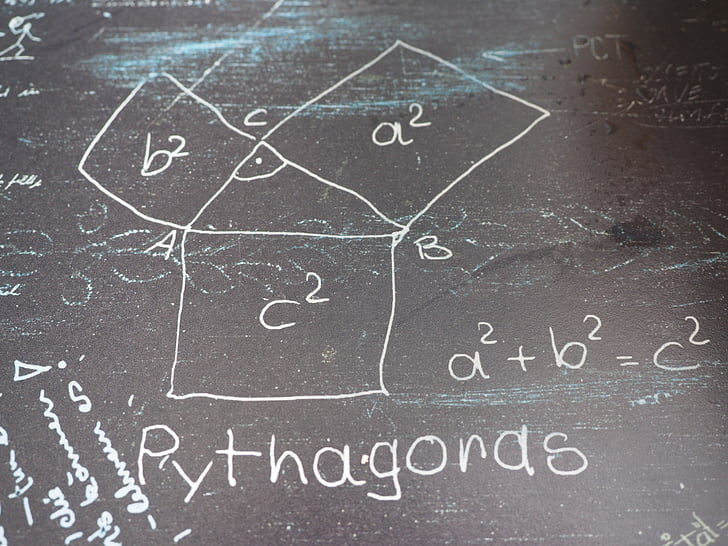 pythagoras, mathematics, formal, triangle, square root, at right angles, hypotenuse