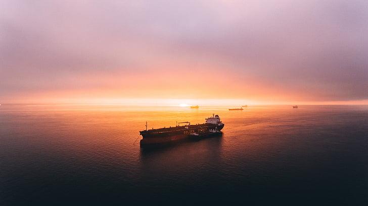 skib, Fragt, rejse, vand, transport, havet, Ocean
