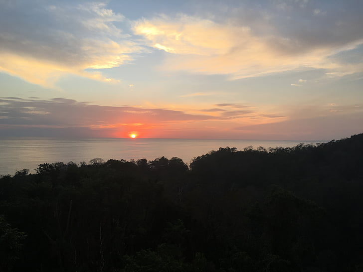 costa rica, sunset, pa, costa, relax, landscape, water