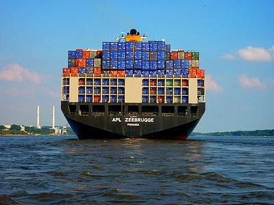 fartyg, behållare, teknik, transport, Last container, godstransporter, transport