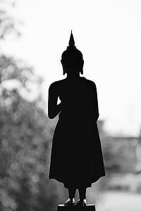 Bangkok, Buddha, arany, meditáció, buddhizmus, Thaiföld, Ázsia