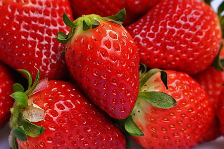 maduixes, fruita, tancar, fruites, vermell, dolç, aliments