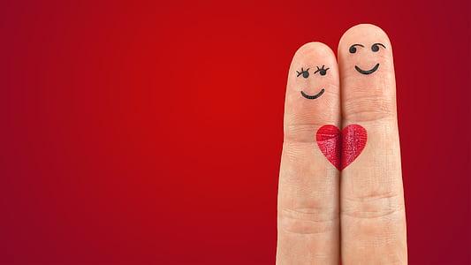 umjetnost, prste, srce, ljubav, par, Crveni, ruž za usne