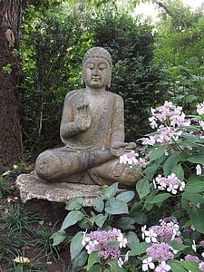 Bouddha, Figure, statue de, sculpture, bouddhisme, fernöstlich, Zen