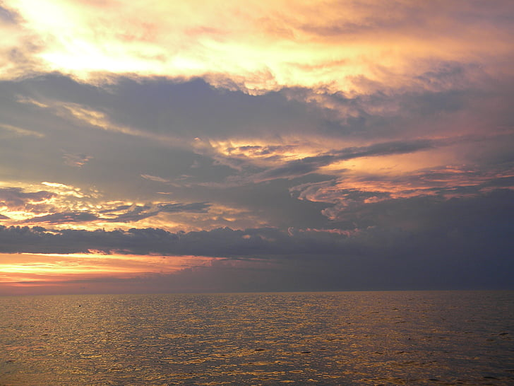 sunset over the ocean, florida keys, sunsets, ocean, beach