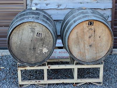 tonneau de vin, vin, baril, alcool, Winery, bois - matériau
