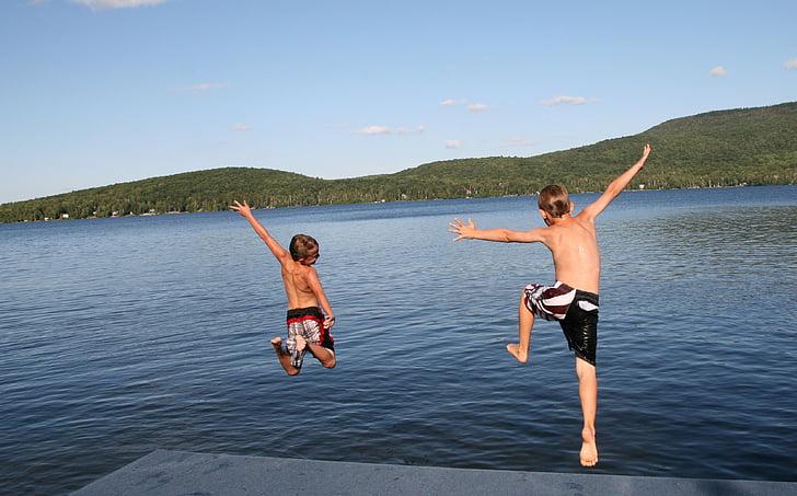 mùa hè, Lake, Dock