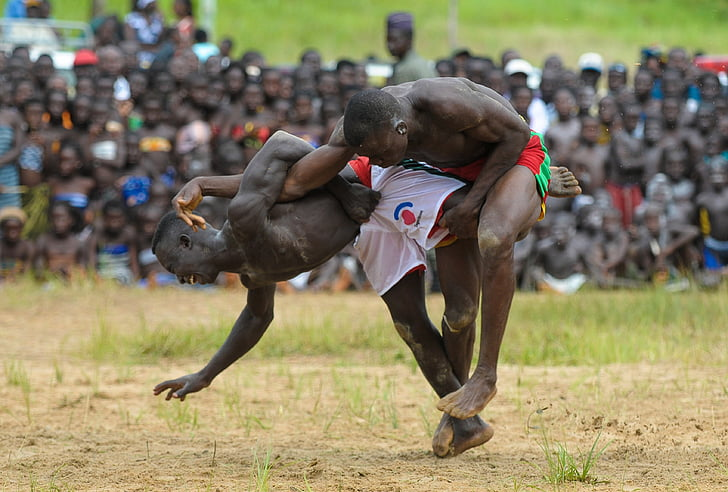 borba, hrvači, tradicija, tradicionalni, pleme, Elizabeth, Afrička
